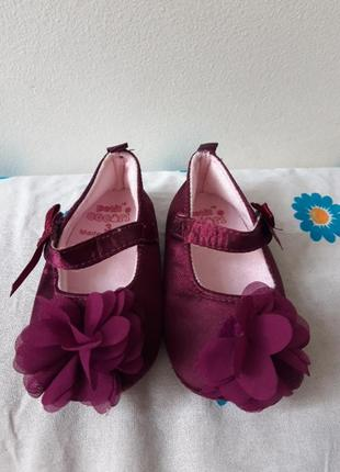 Petit cocori пинетки туфельки 3 размер 12 см стелька