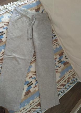 Спортивные штаны, утеплённые, 8 лет, цвет меланж