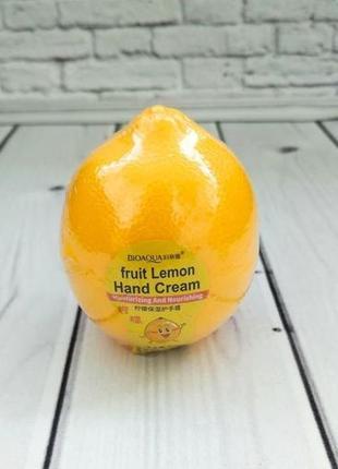 Отбеливающий крем для рук bioaqua fruit lemon hand cream с экстрактом лимона 30 г