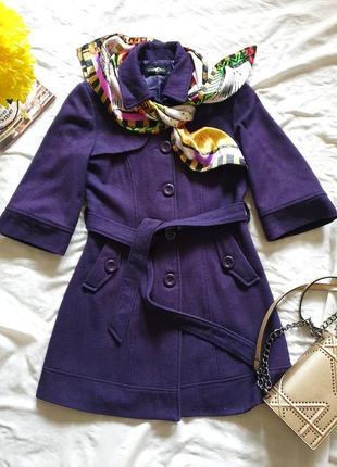 Пальто фиолетового цвета