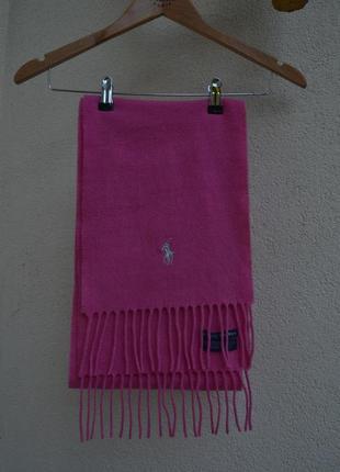 Шерстяной розовый шарф ralph lauren