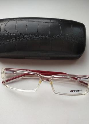 Стильная прозрачная оправа под линзы, очки женские оригинал  g.ferre ff172 02