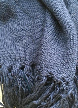 Теплый шерстяной шарф с lana wool от sisley