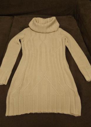 Вязаный свитер - туника (свитер - платье, платье)