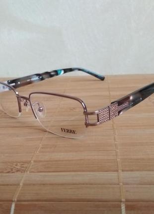 Стильная оригинальная полуоболковая оправа под линзы, очки оригинал  g.ferre gf343 03