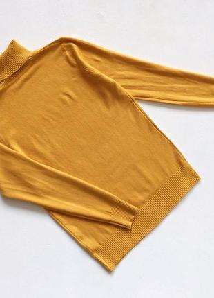 Новый стильный гольф натуральная ткань цвет горчичный размер s-m