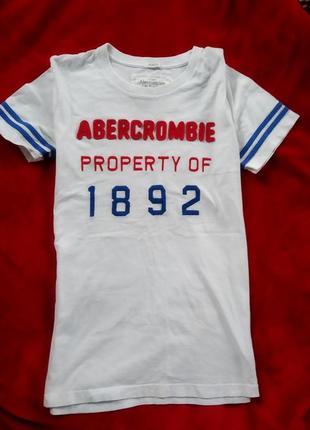 #розвантажуюсь натуральная хлопковая футболка abercrombie fitch