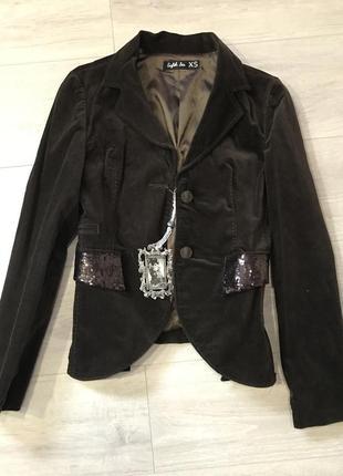 Стильный бархатный пиджак eighth sin, размер xs