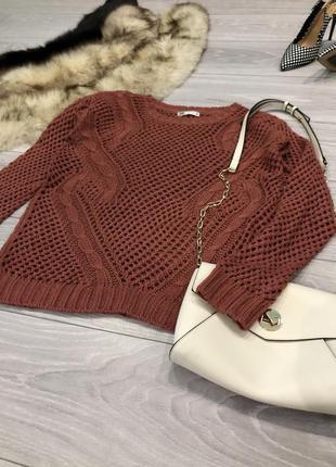 ‼️распродажа! свитер вязанный сеткой, кофта в сетку прозрачная