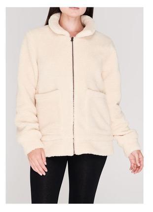 Куртка teddy искусственный мех, флис, на подкладке, на молнии, р. 50-52