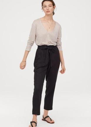 Крутые штаны с высокой талией h&m