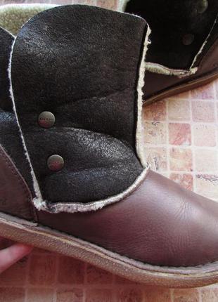Ботинки kickers кожа для девушки