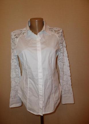 Nh nadine h белая нарядная рубашка , р 40