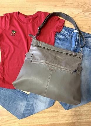 Фирменная сумка-шоппер esprit,большая сумка,сумочка