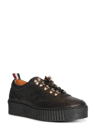 Стильные фирменные демисезонные ботинки tommy hilfiger р-р38(24.3-24.5см)оригинал! кожа.