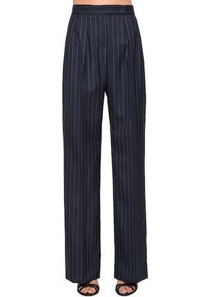 Max mara свободные классические брюки в полоску с завышенной талией штаны