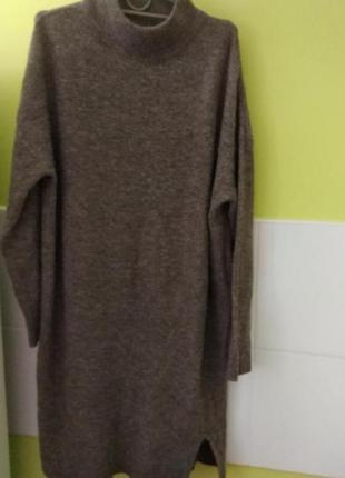 Тёплое платье свитер свободного кроя от k by kappahl