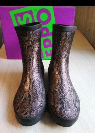 Резиновые ботинки gioseppo (испания) натуральный каучук!