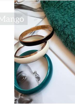 Набор браслетов mango браслеты с золотом зеленый черный белый