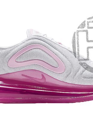 Женские кроссовки nike air max 720 white pink rise laser fuchsia ar9293-103