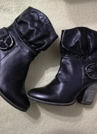Ботинки  сапожки кожа