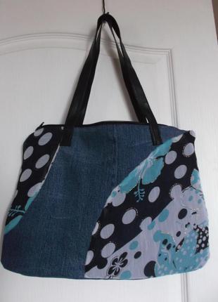 Модная джинсовая сумочка