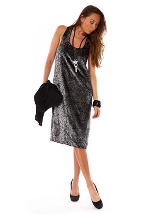 Брендовое бархатное велюровое нарядное вечернее миди платье vila вискоза переливается
