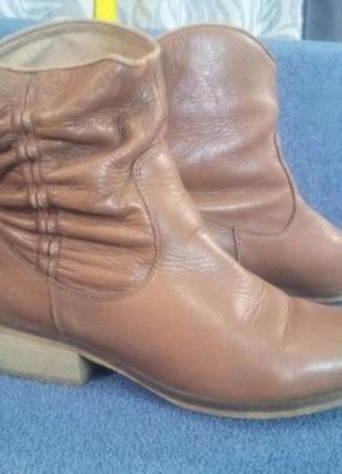 Казаки натуральная кожа, ботинки