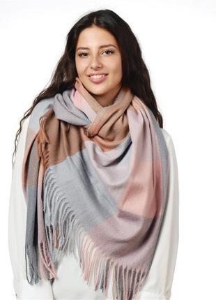 Теплый роскошный турецкий шарф плед клетка