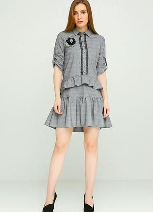 Стильное брендовое платье от ciolla by sassofono размер 40 (наш 46)