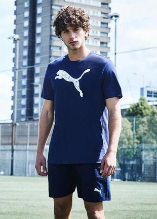 Мужская синяя футболка оригинал puma