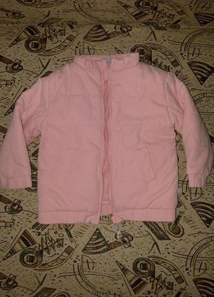 Фирменная, демисезонная курточка для девочки