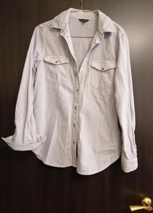 Джинсовая рубашка massimo dutty