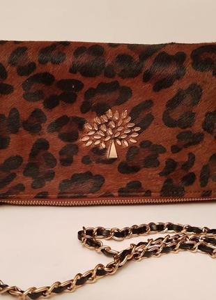 Mulberry! номер! шикарная эффектная брендовая сумка crossbody натуральная кожа пони