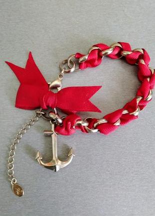 Яркий женский браслет accessorize.  металл, якорь