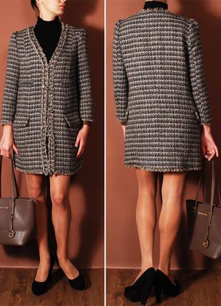 Облегченное демисезонное пальто классического фасона а-ля шанель    ow4412    mango1