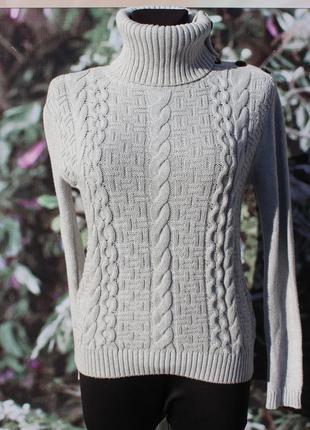 Красивый  свитер в косы  h&m