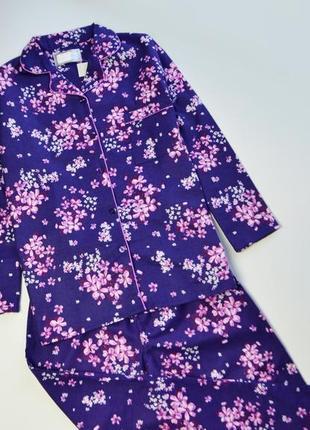 Красивая пижама фланель в подарочную упаковке