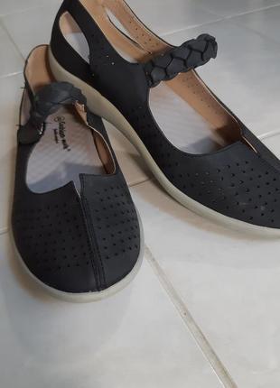 Туфли, сандали, мокасины на липучке, размер 8, стелька 27 см., cushion - walk