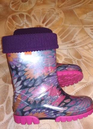 Резиновые сапоги demar с утепленным носком