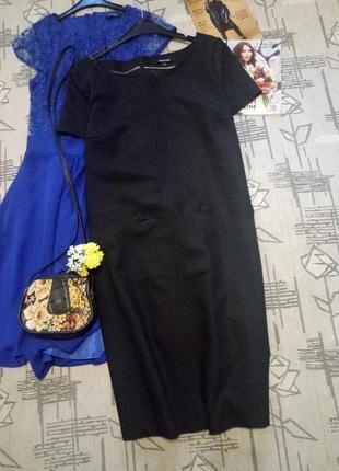 Стильное элегантное платье с карманами, размер 12-14