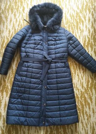 Продам тёплый пальто-пуховик