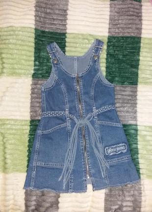 Фирменный джинсовый сарафан платье, 3-5 лет, gloria jeans