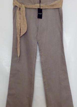 Модные широкие вельветовые брюки с шелковым поясом, светло серые, isabel marant