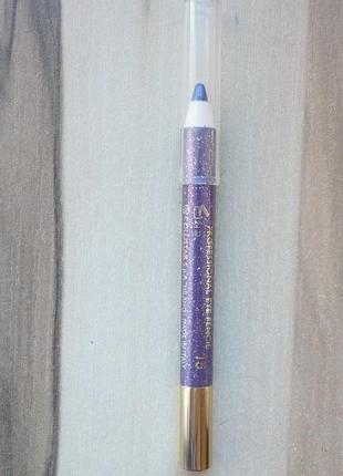 Влагостойкий карандаш collistar professional eye pencil 15 violet glitter тестер