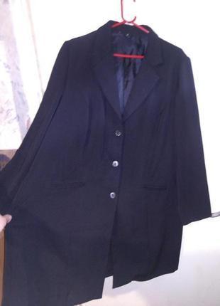 Элегантный,удлиненный,кардиган-жакет с карманами-для деловой женщины,20-24р.,румыния