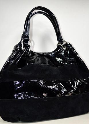 Женская сумка мешок экокожа и натуральная замша