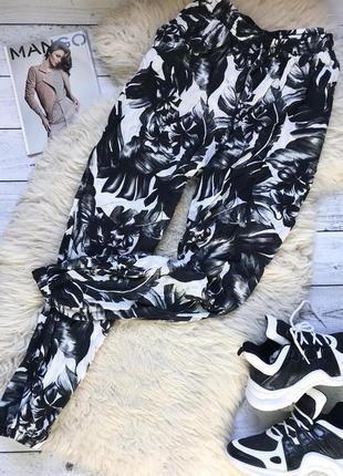 Штаны брюки джоггеры в пальмовые листья