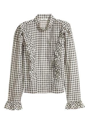 Блуза с органзы h&m