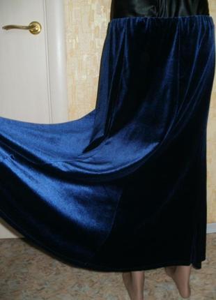 Шикарная бархатная юбка, р.52/xxl